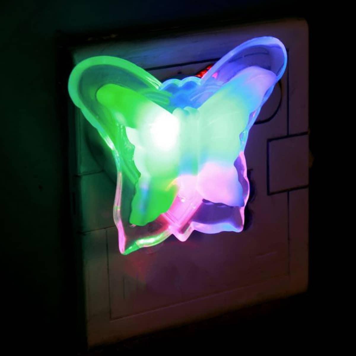 1pc Kleurrijk Hart & Vlindervormig Nachtlampje