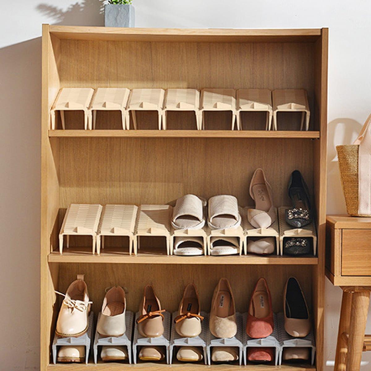 Dubbellaags schoenen opbergrek