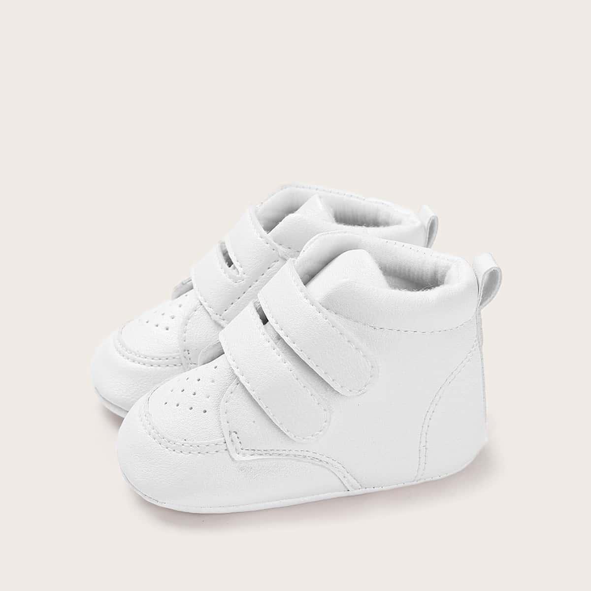 Wit Comfortabel Vlak Baby sneakertjes