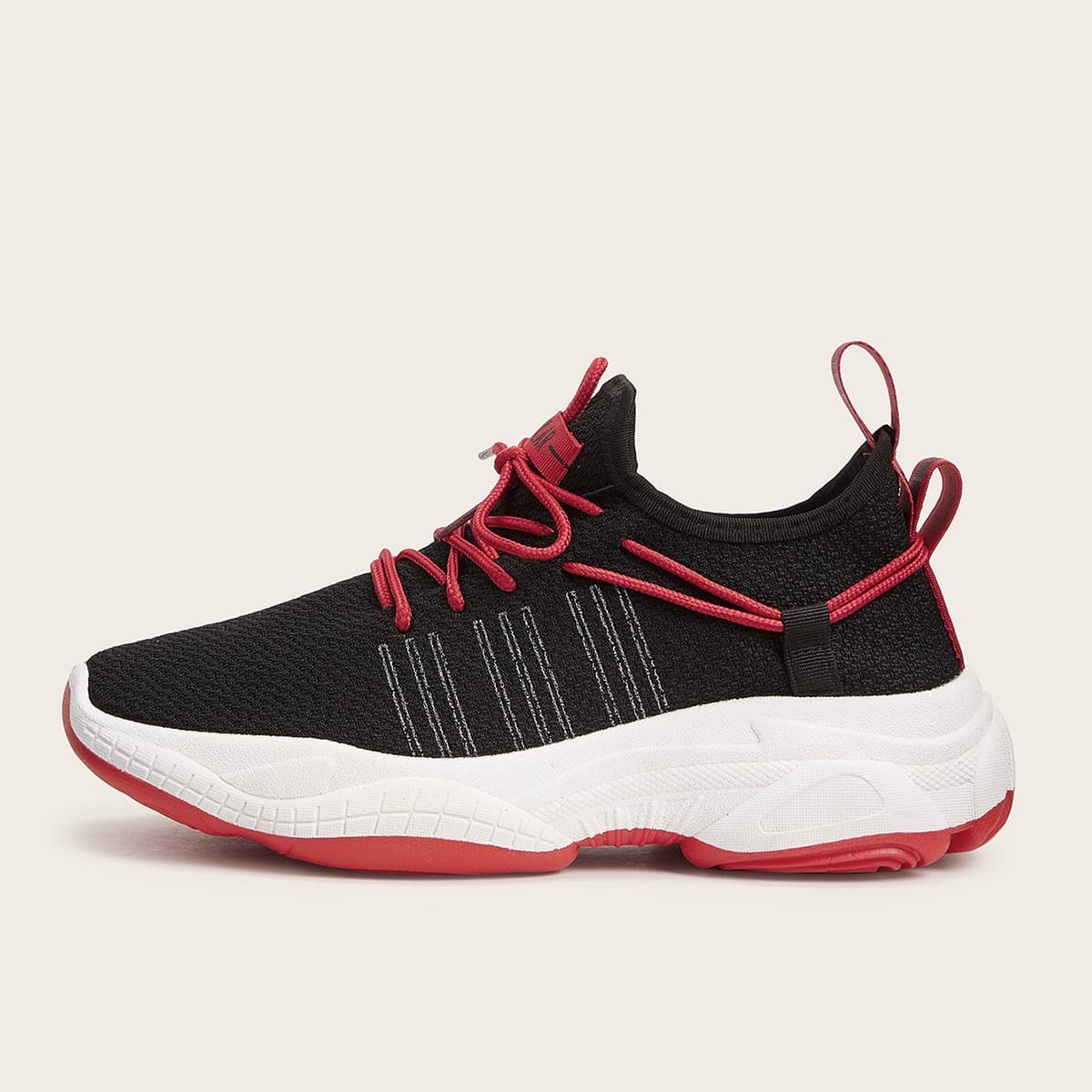SHEIN / Men Letter Detail Lace-up Front Sneakers