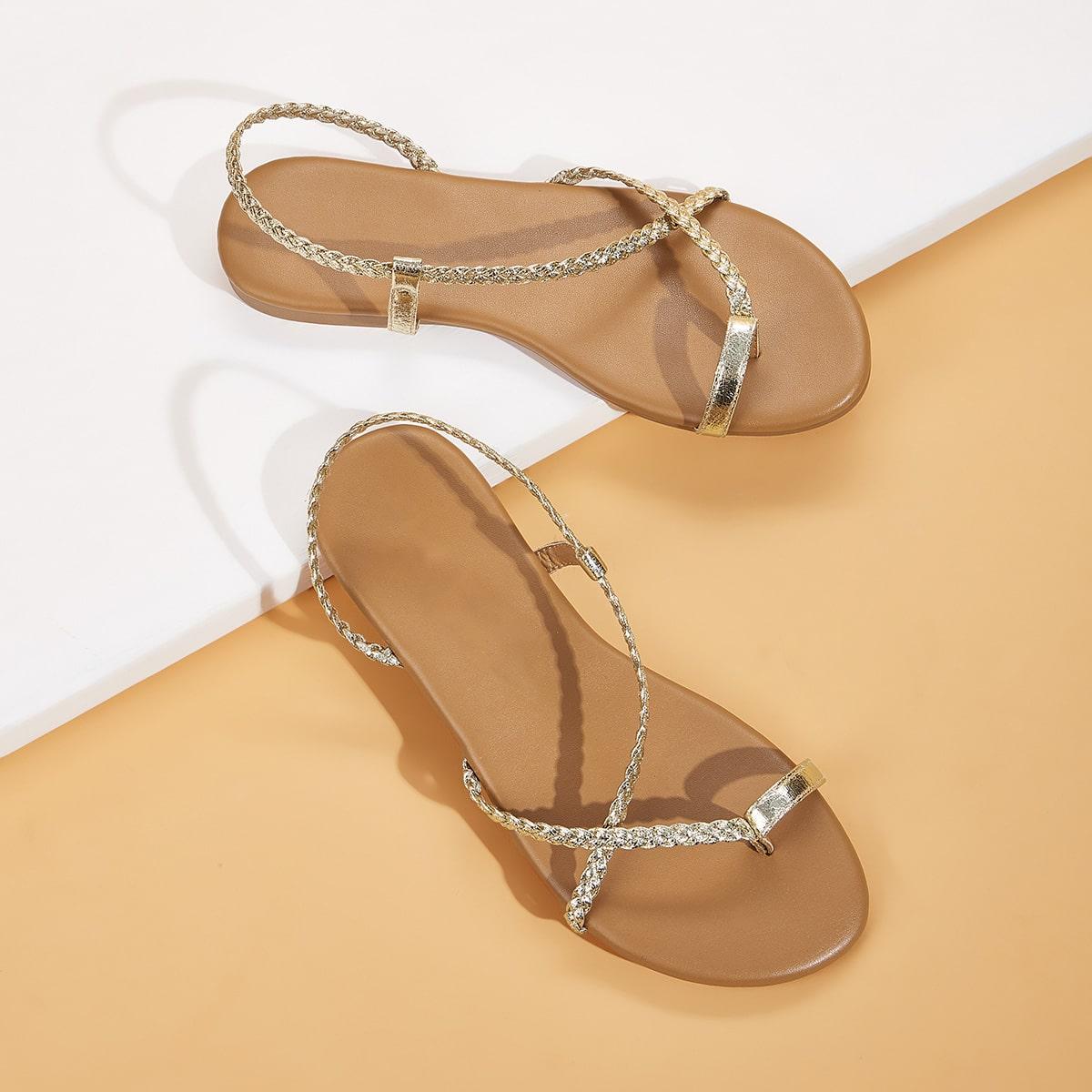 Goud Comfortabel Sandalen
