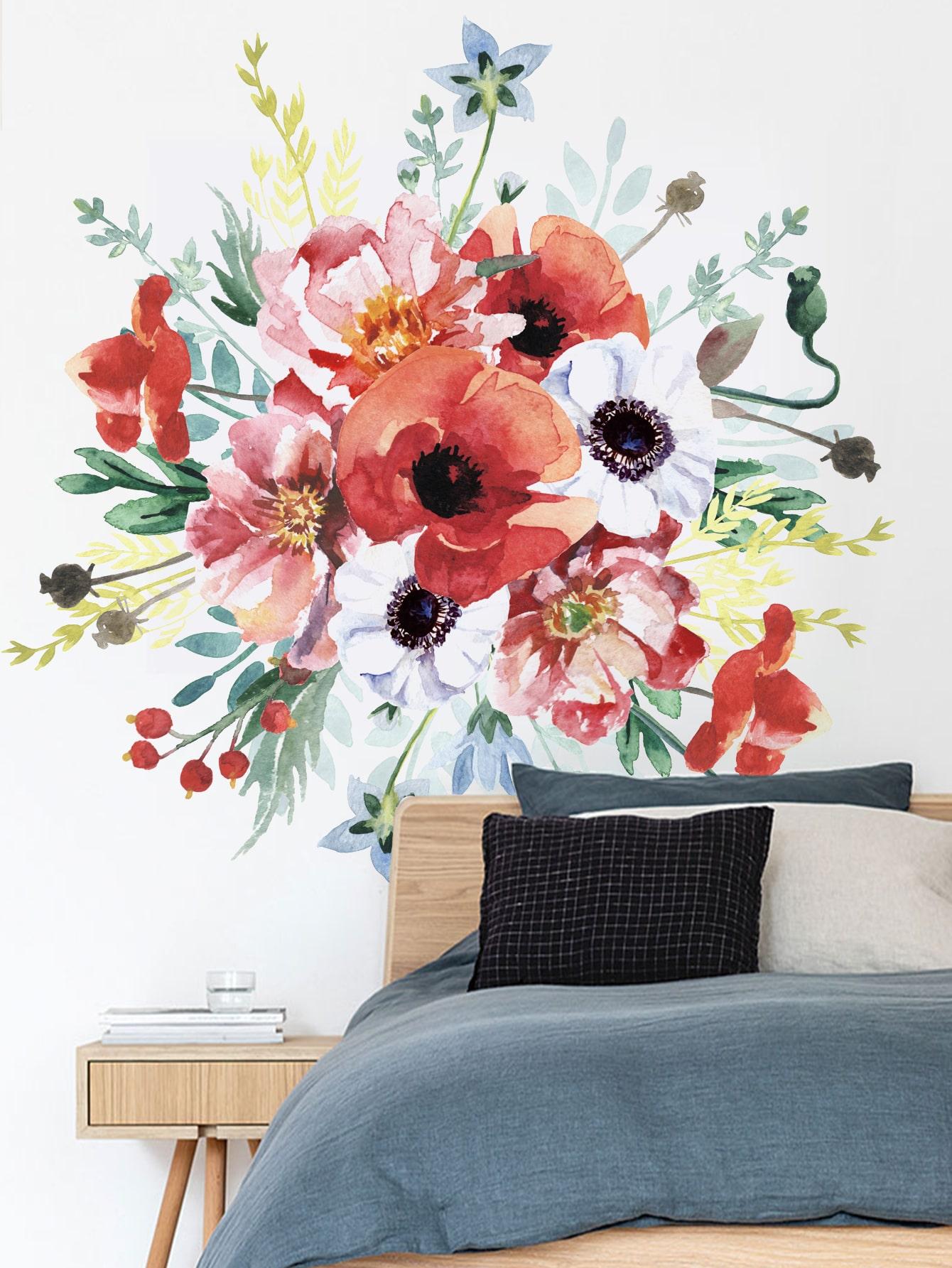 Bouquet De Fleurs Sticker Mural