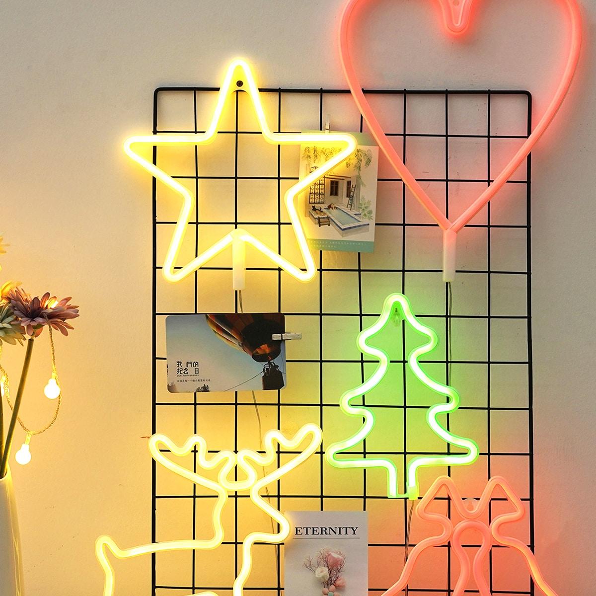 1pc Kersthart & Stervormig nachtlampje