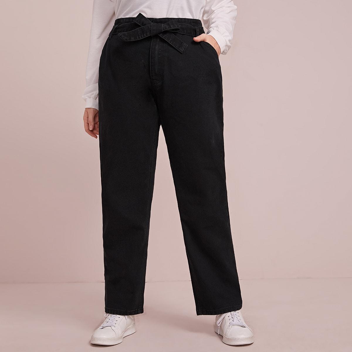 Zwart Casual Vlak Grote maten: jeans Zak