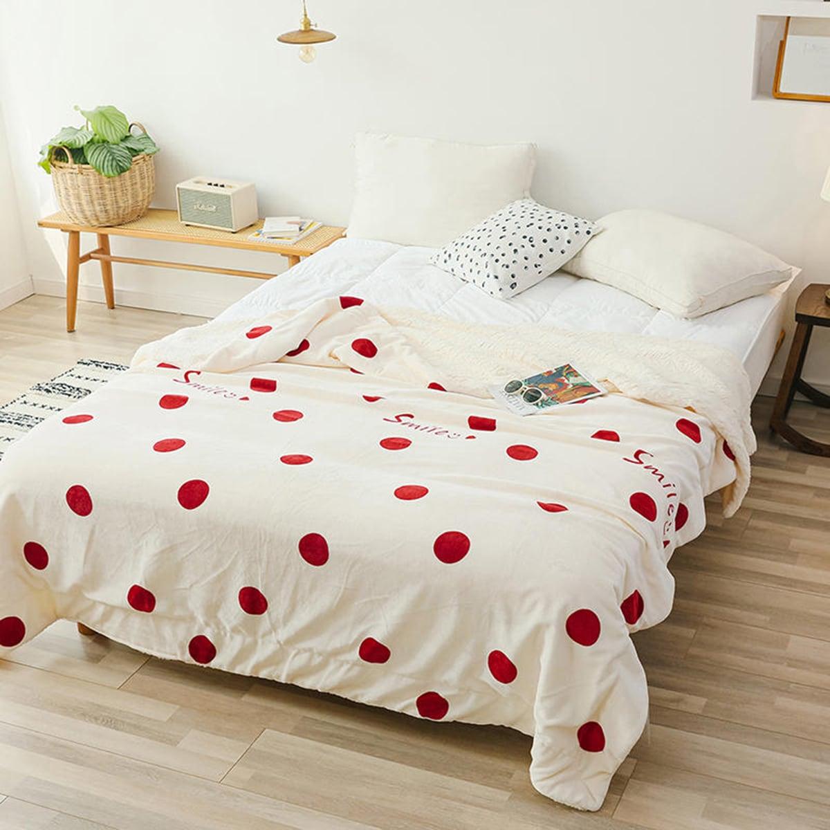 1 st Polka Dot & Letter grafische deken
