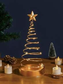 Christmas   Metal   Table   Tree   Lamp