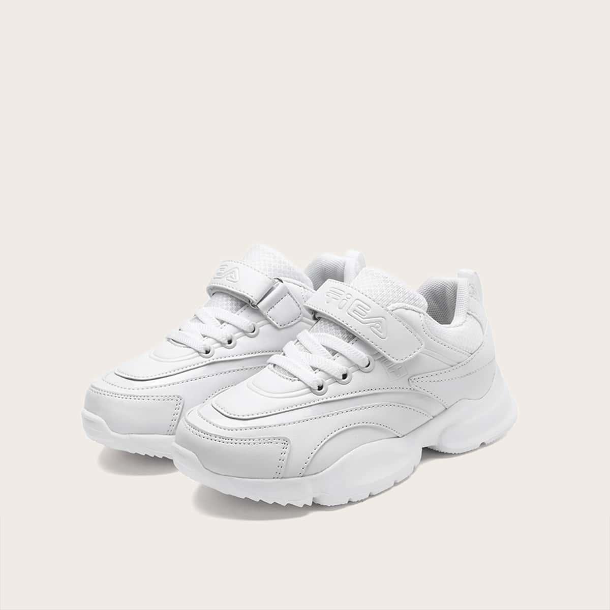 Wit Comfortabel Vlak Kinder sneaker