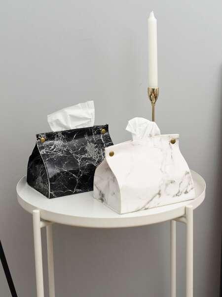 1pc Marble Pattern Tissue Box