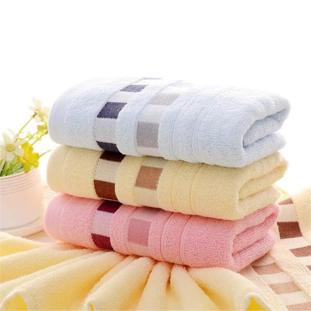 1pc geruite patroon gezicht handdoek