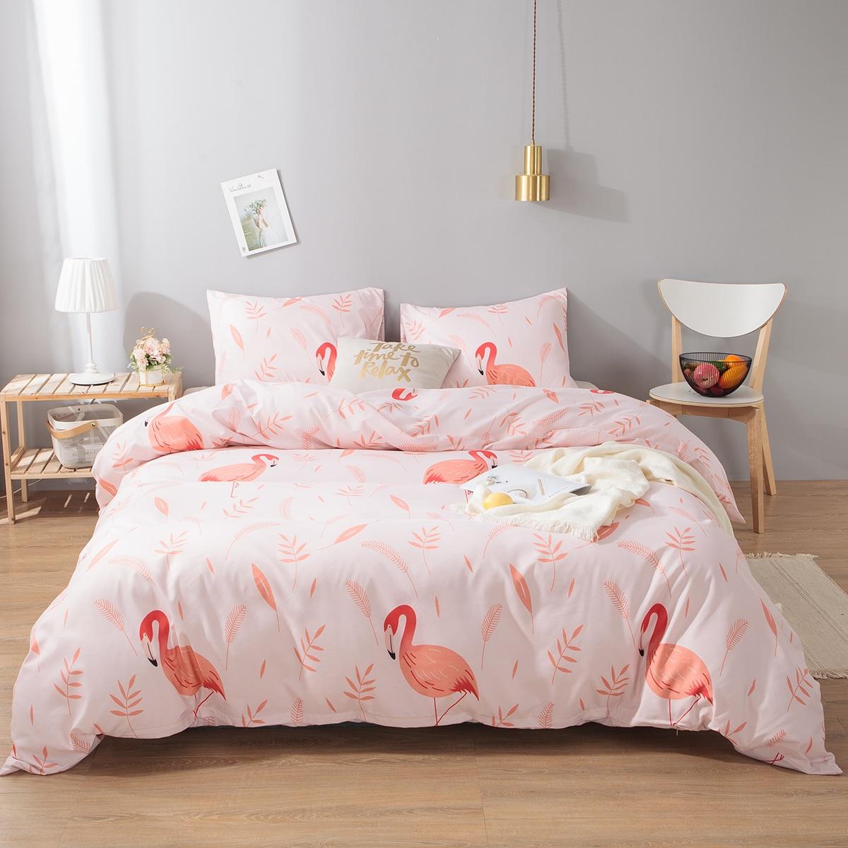 Flamingo patroon blad set
