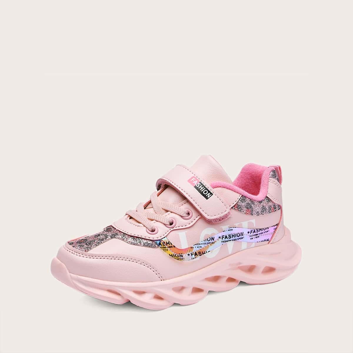 Roze  Comfortabel Luipaard Kinder sneaker