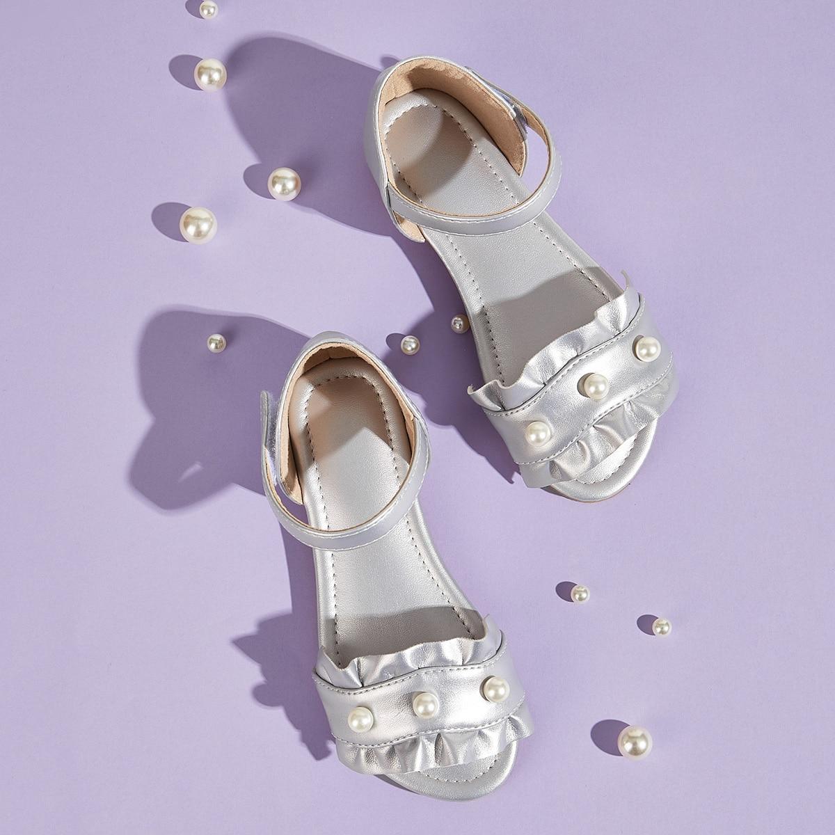 Zilver Comfortabel Vlak Kinder sandalen