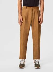 Solid   Flap   Pant   Men