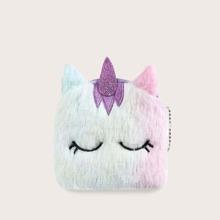 Girls Unicorn Design Fluffy Purse (skbag18191210960) photo