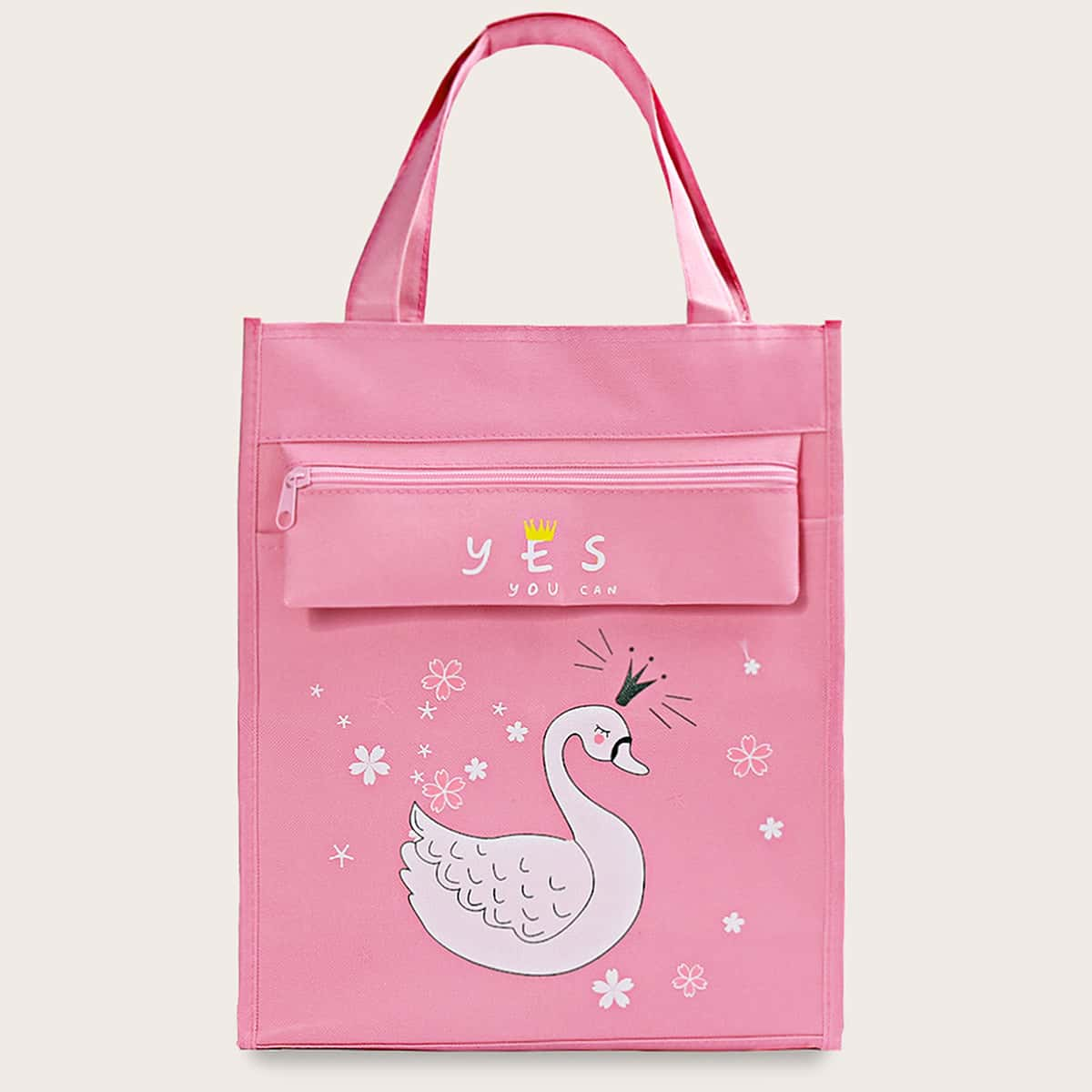 Roze  Casual Spotprent Kinder tassen