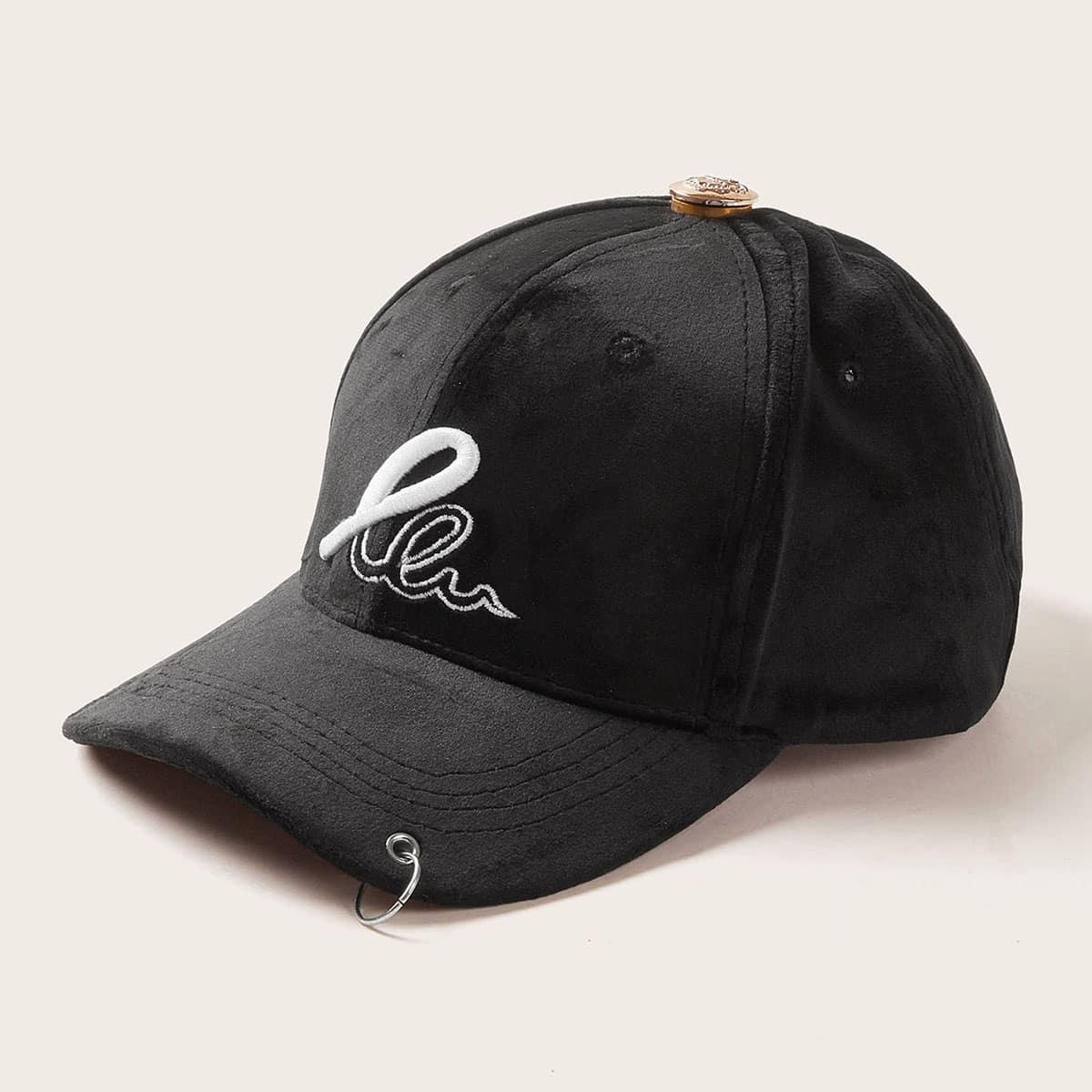 Heren Hoop Decor Baseball Cap