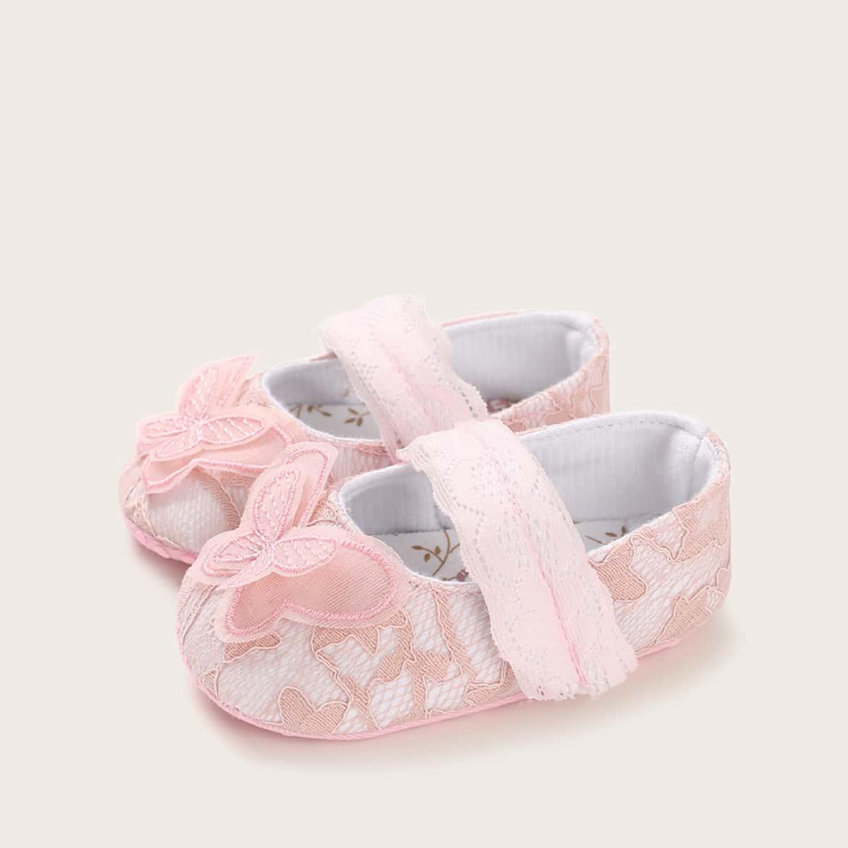 Roze  Comfortabel Baby platte schoentjes