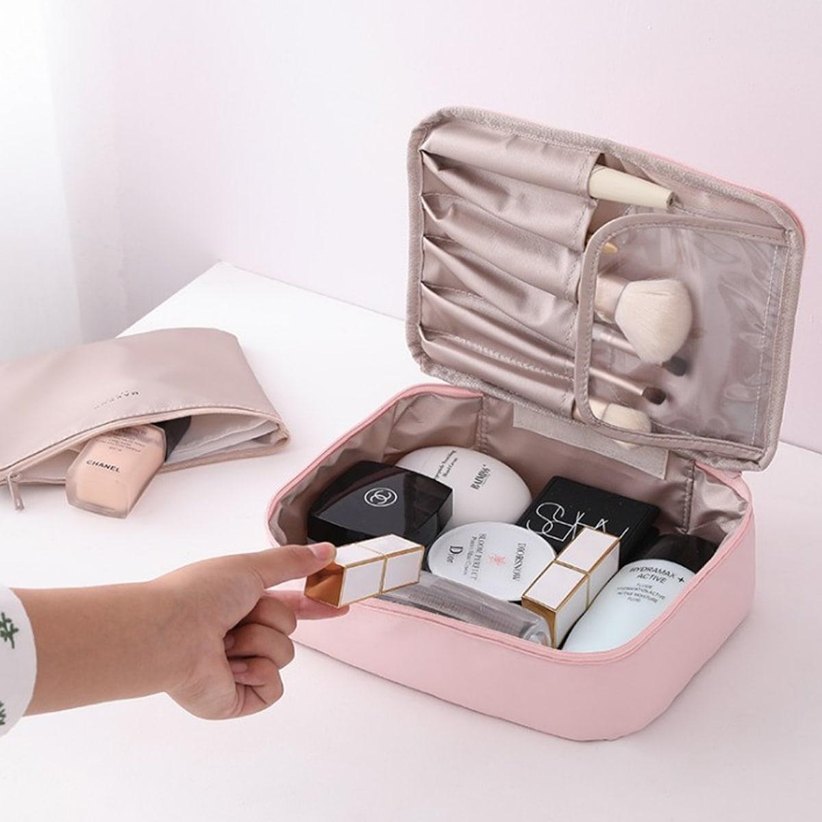 1pc draagbare draagbare cosmetische opbergtas