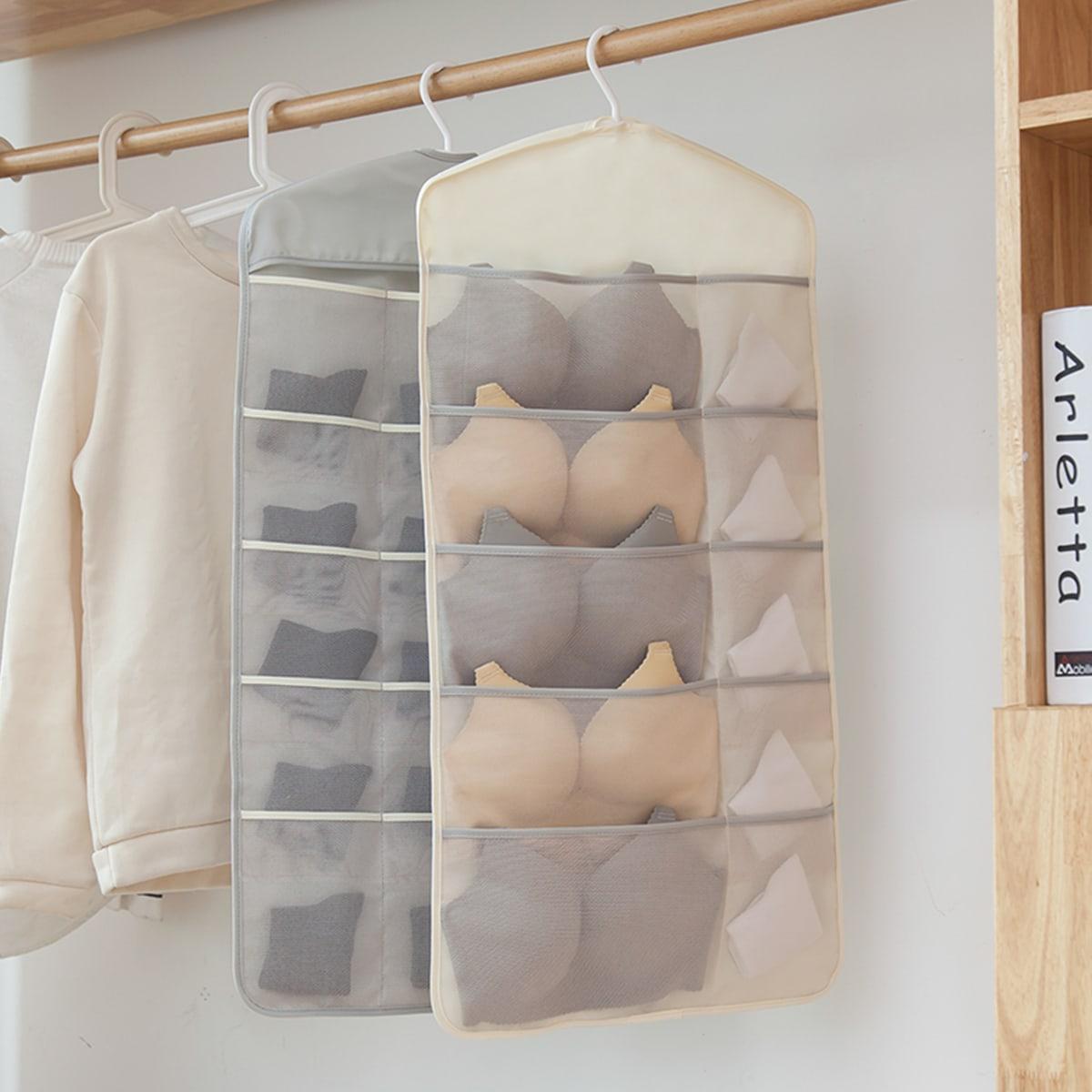 1pc opbergtas dubbelzijdig hangend ondergoed