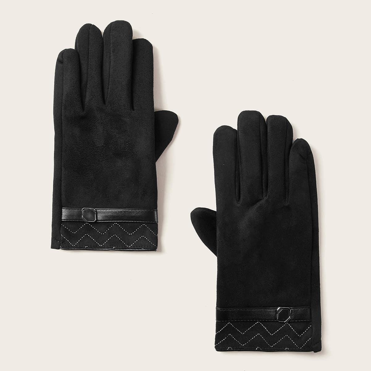 Heren Buckle Belt Decor Handschoenen