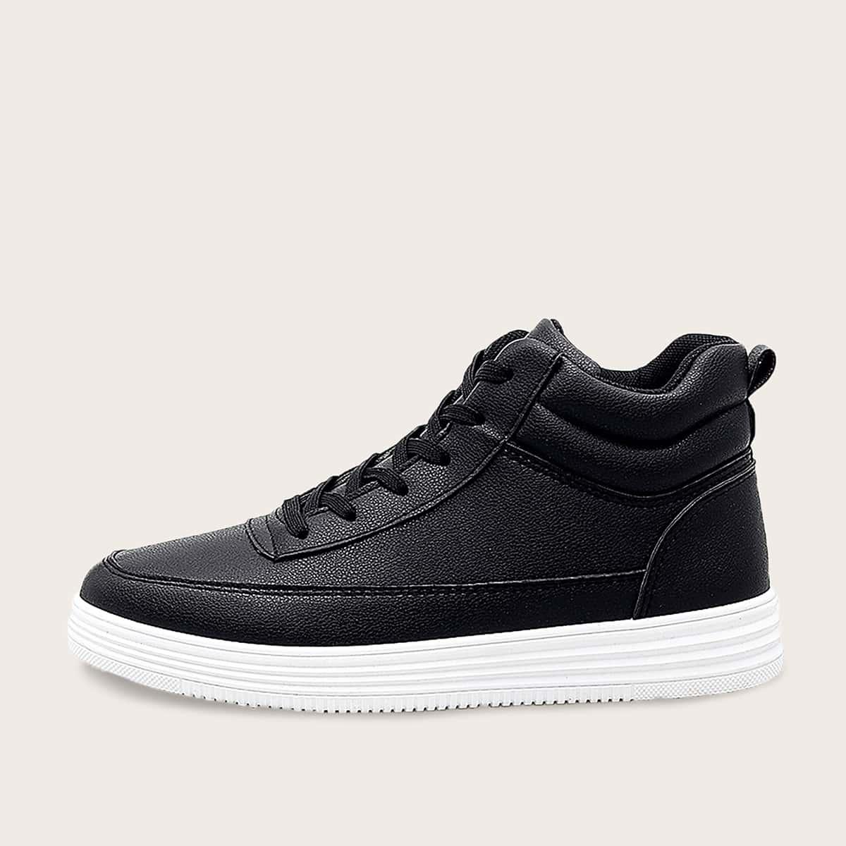 Zwart Comfortabel Vlak Heren sneakers