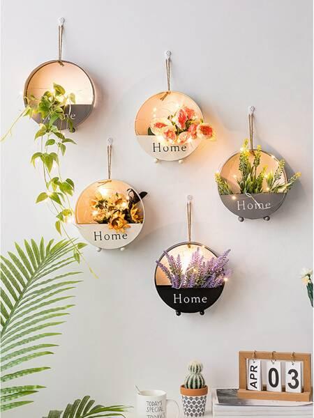 1pc Wall Hanging Iron Flower Basket