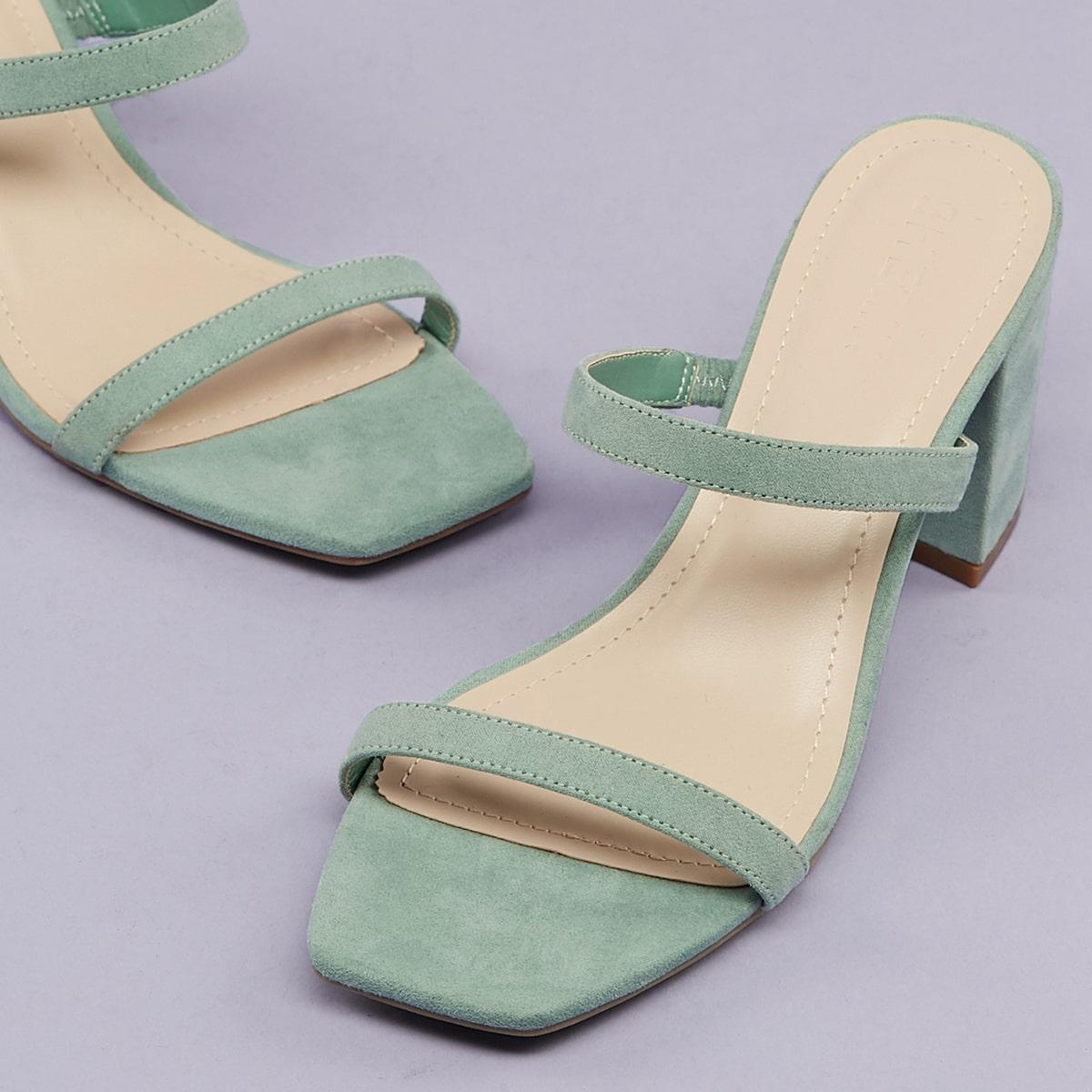 Туфли с квадратным открытым носком от SHEIN