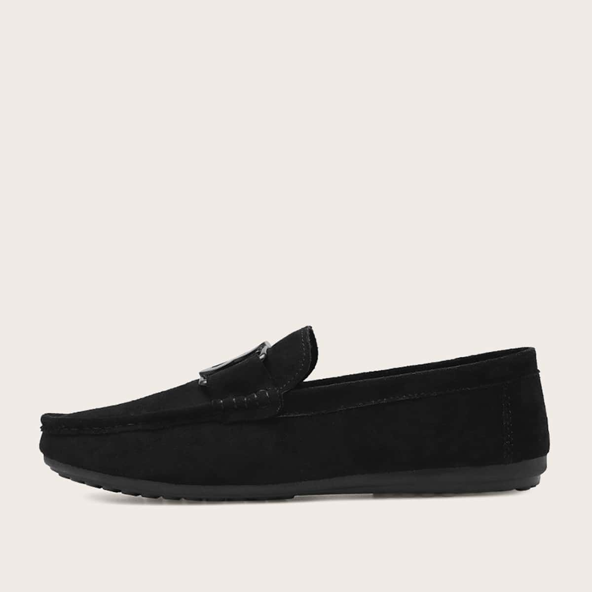SHEIN / Men Letter Decor Suede Loafers