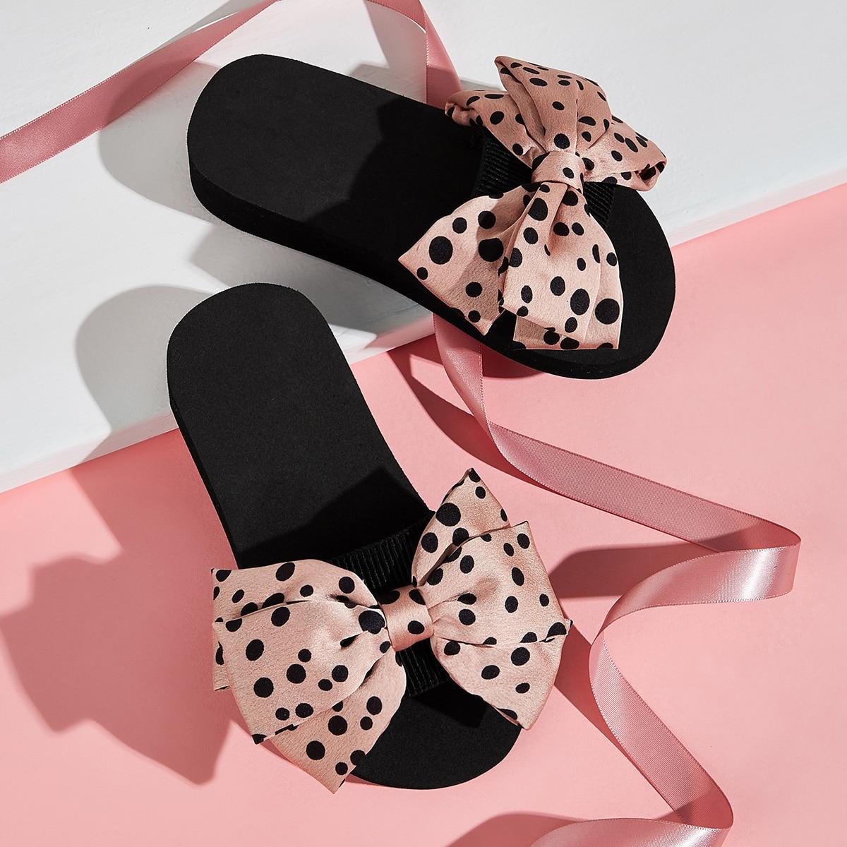 Roze  Comfortabel Stippen Kinder slippers