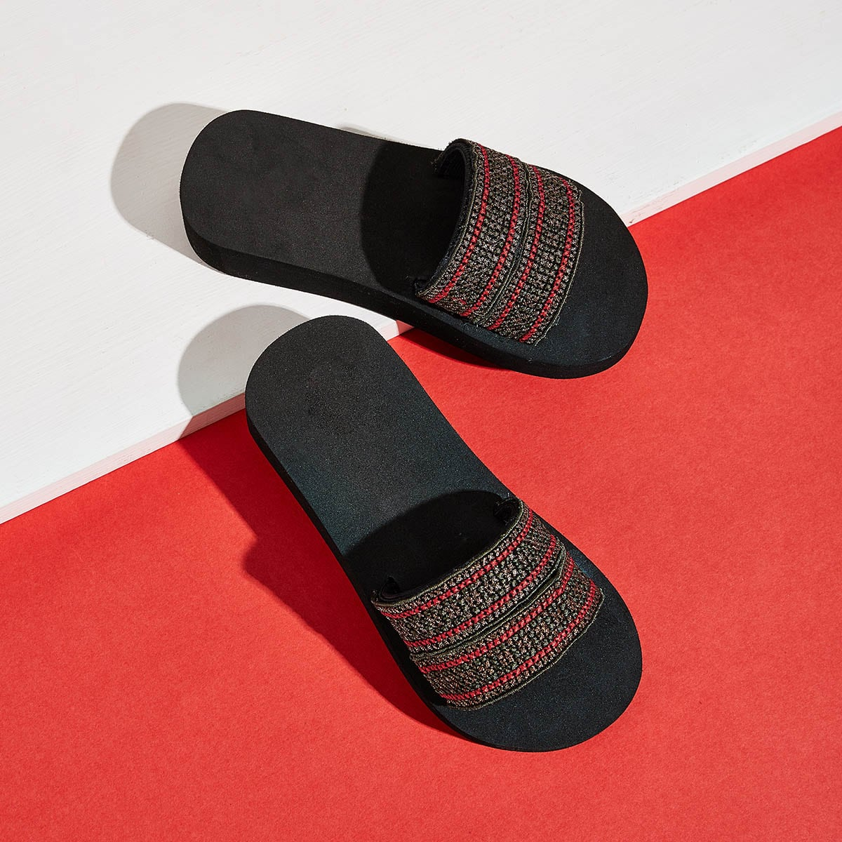 Veel kleurig Comfortabel Gestreept Kinder slippers
