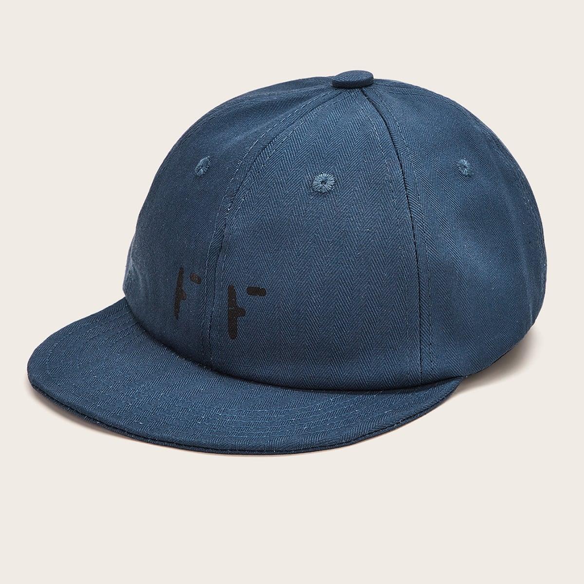 Heren eenvoudige solide baseballcap