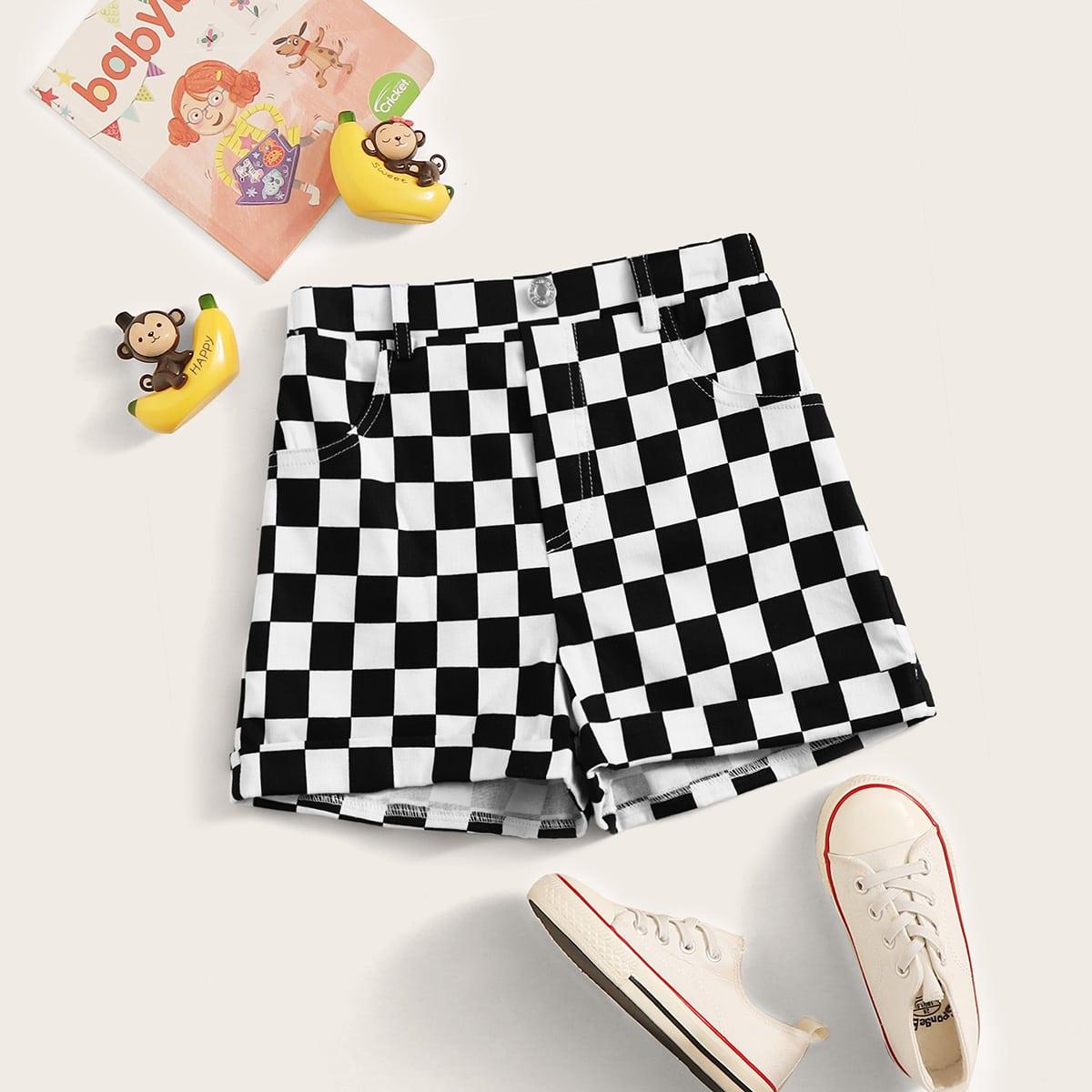 Прямые шорты для девочек от SHEIN