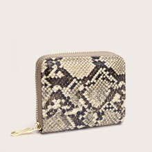 Snakeskin Zip Around Purse (swbag18191219148) photo
