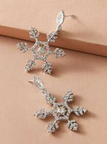 Rhinestone | Snowflake | Engrave | Earring