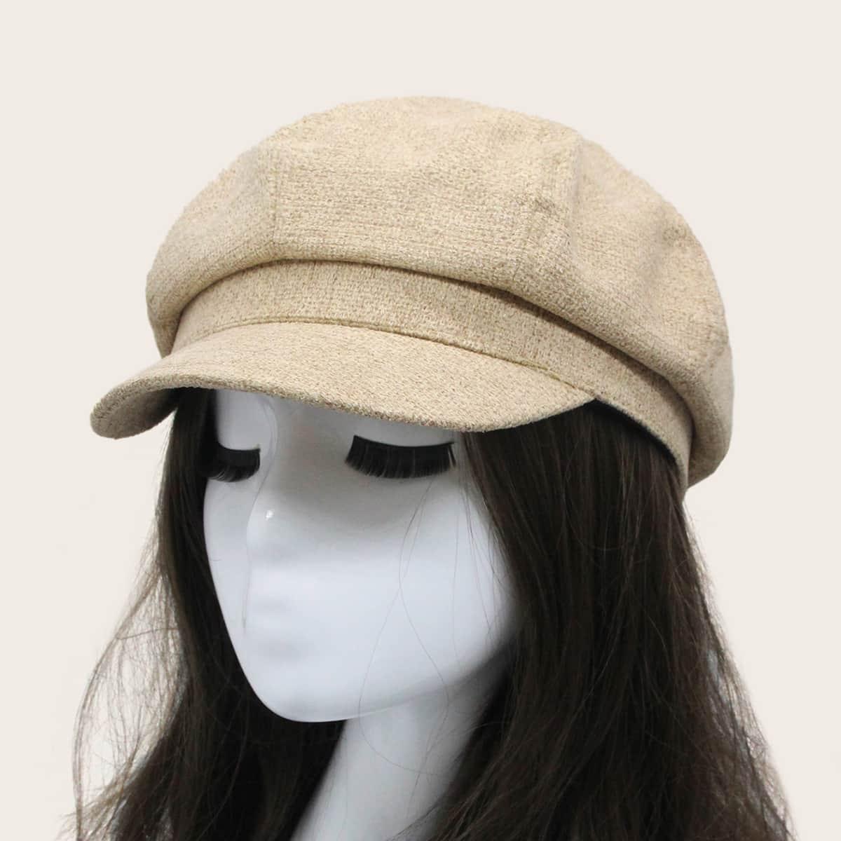 Твердый Бейкер Мальчик Hat от SHEIN