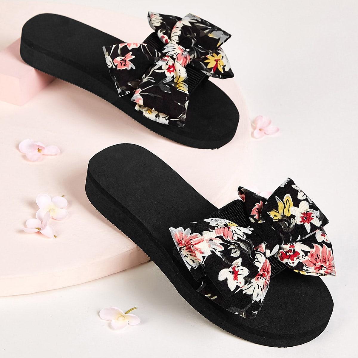 Veel kleurig Comfortabel Bloemen Kinder slippers