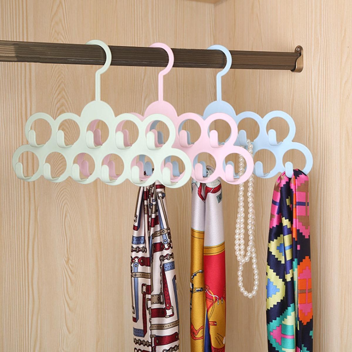 1pc multifunctionele sjaalhanger met 11 haken