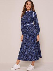 Chiffon | Skirt | Print | Top | Set