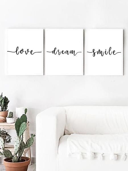 1pc Letter Graphic Wall Art Print Without Frame