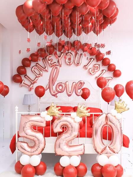 20pcs Solid Decorative Balloon Set