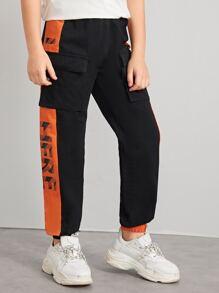 Cargo   Neon   Flap   Pant