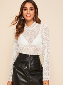 Sheer | Lace | Top