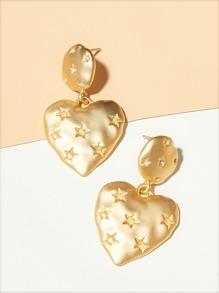Engrave | Earring | Heart | Star
