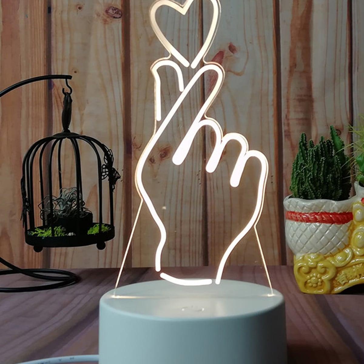 Vinger hartvormig nachtlampje