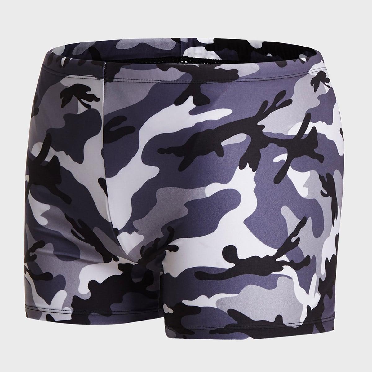 Veel kleurig Boho Camouflage Heren badmode Koord