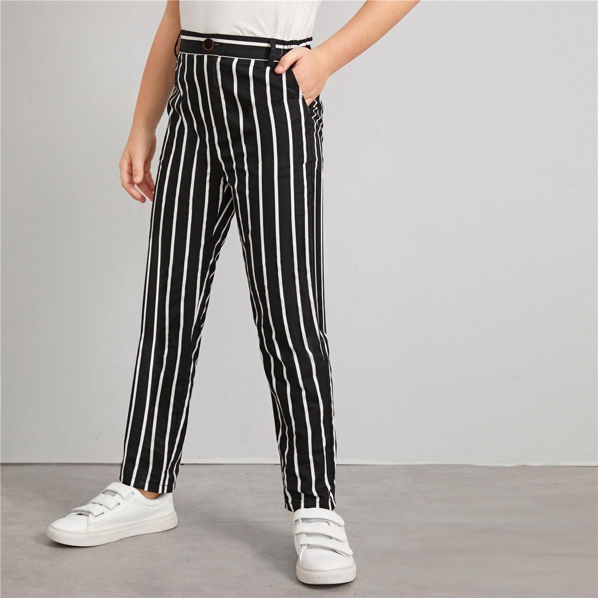 Полосатые брюки с карманом для мальчиков от SHEIN