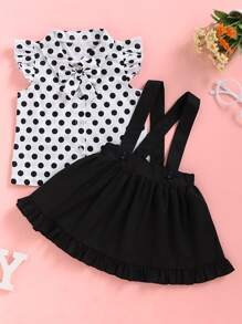 Blouse | Polka | Front | Skirt | Baby | Girl | Dot | Bow