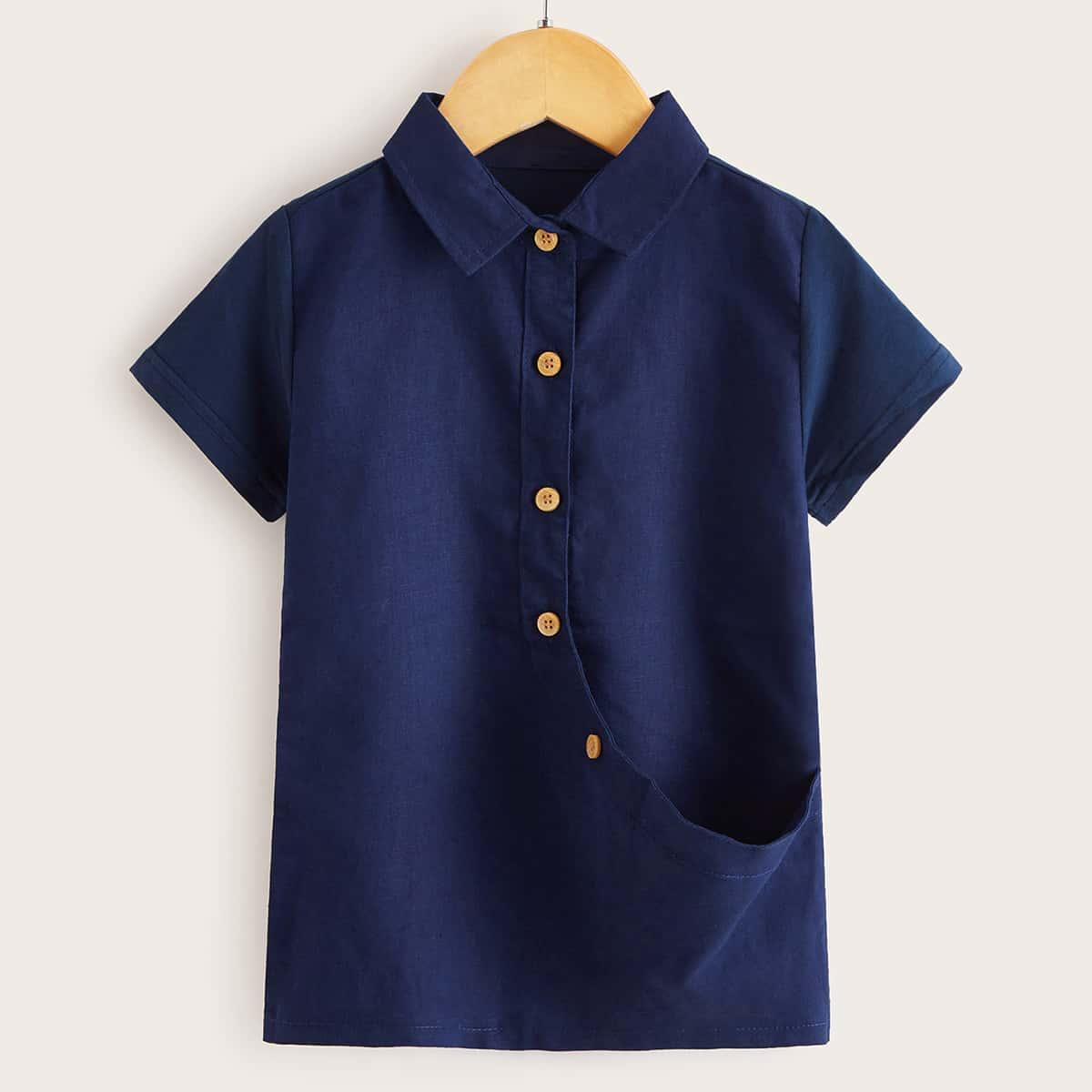 Рубашка с пуговицами для мальчиков от SHEIN
