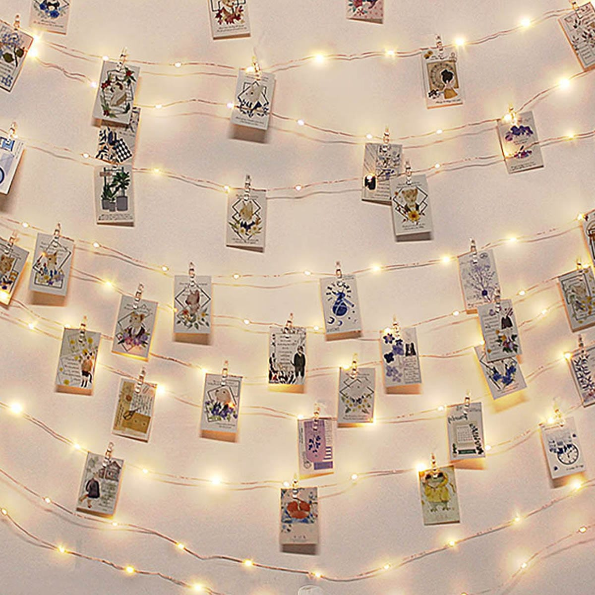 50 stks Bulb Photo Clip String Light