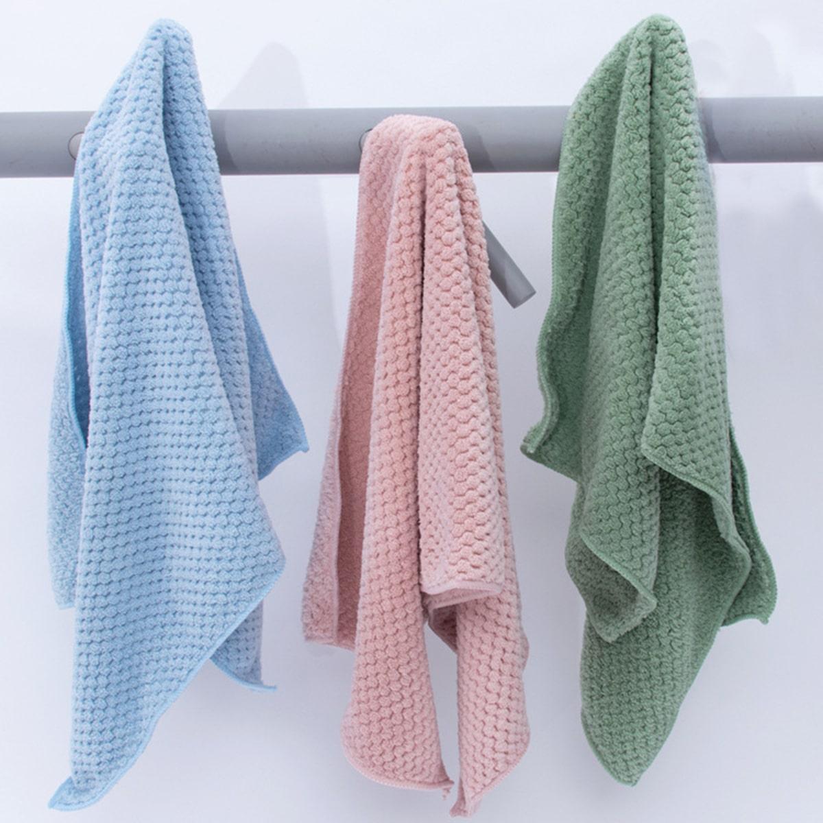 1pc effen kleur absorberende handdoek